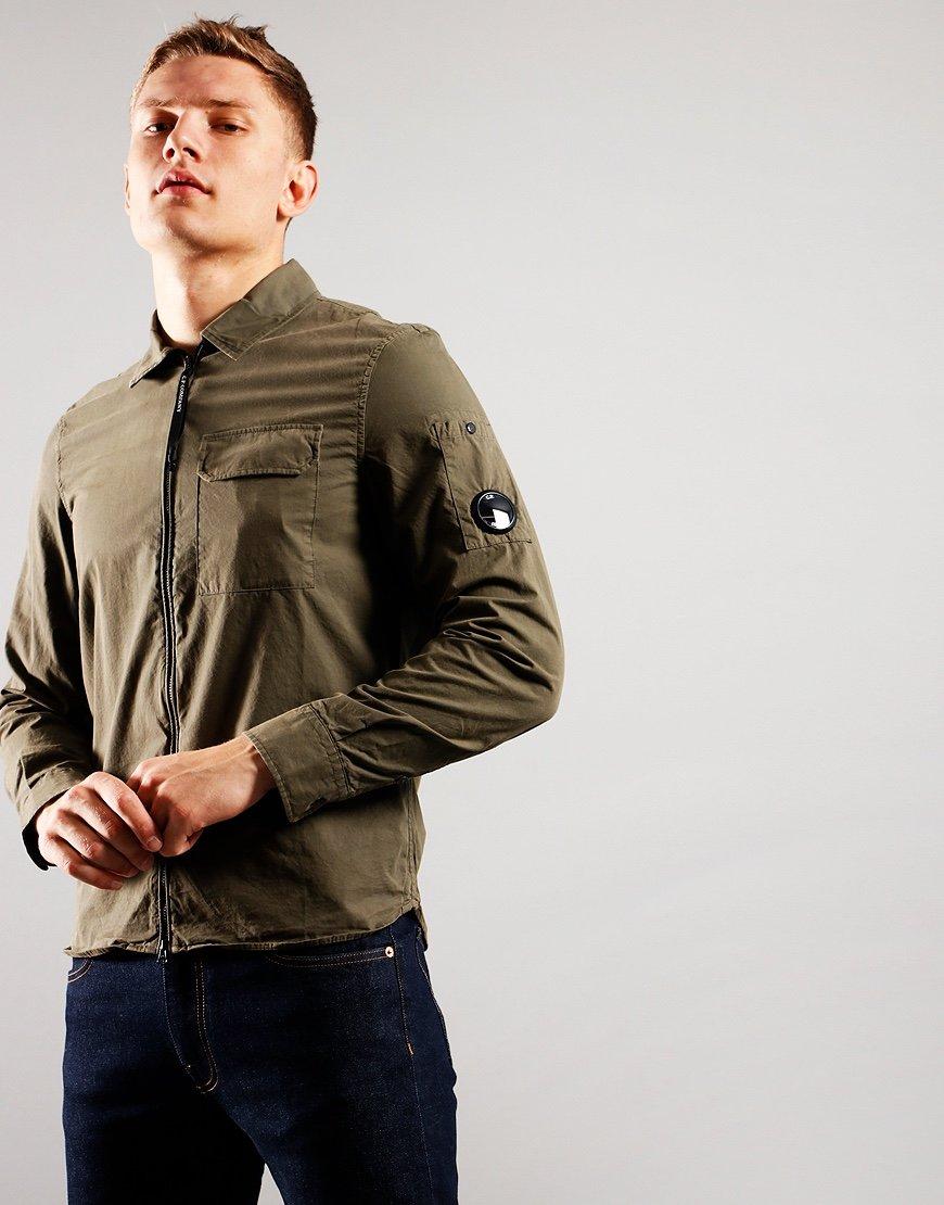 C.P. Company Gabardine Shirt Stone Gray