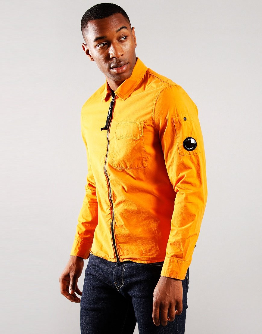 C.P. Company Gabardine Zipped Overshirt Deseert Sun