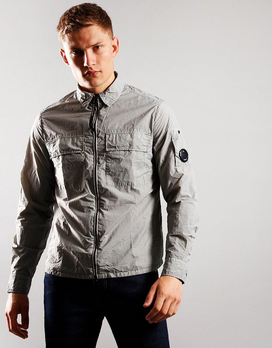 C.P. Company Nylon Zip Overshirt Moon Mist