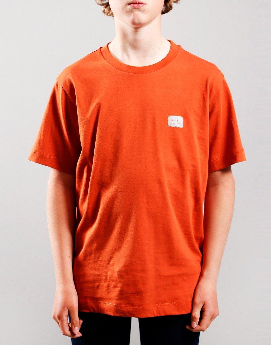 C.P. Company Kids Small Logo T-Shirt Burnt Orange