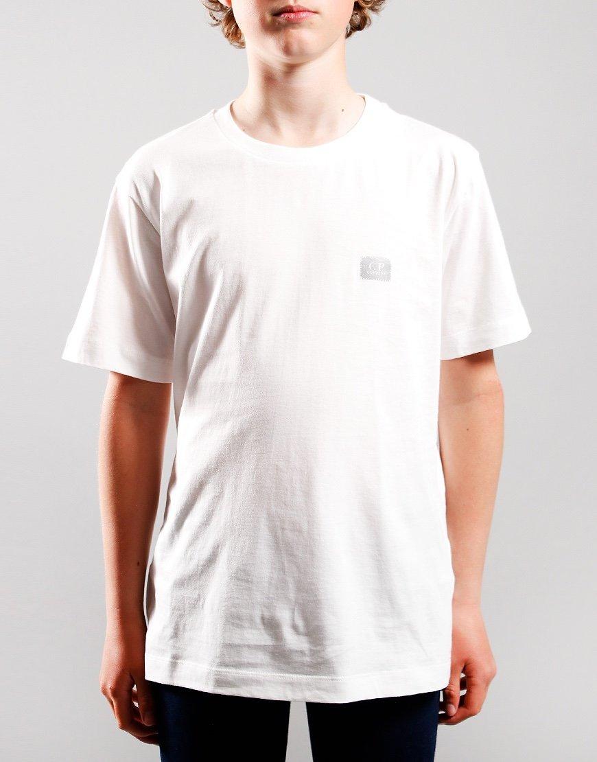 C.P. Company Kids Small Logo T-Shirt Gauze White