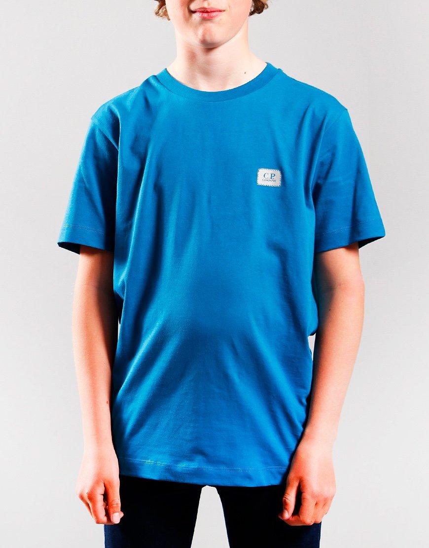 C.P. Company Kids Small Logo T-Shirt Lyons Blue