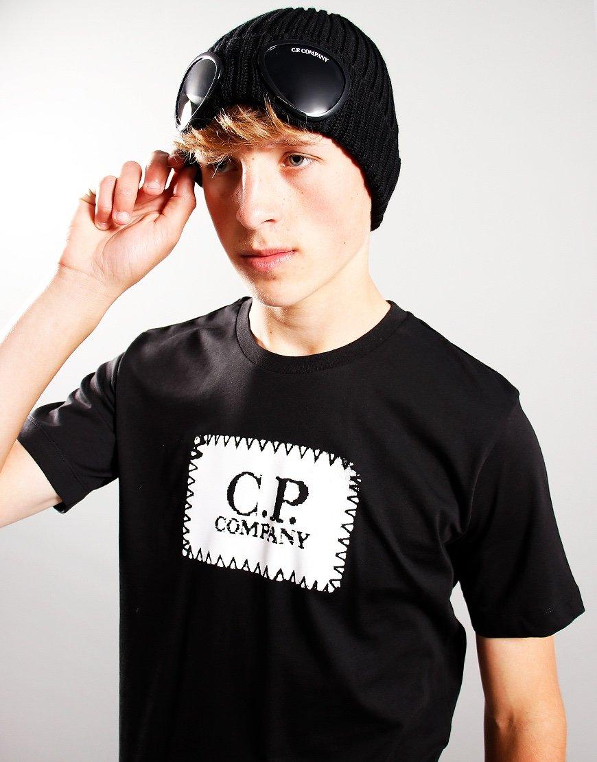 C.P. Company Kids Knit Beanie Black