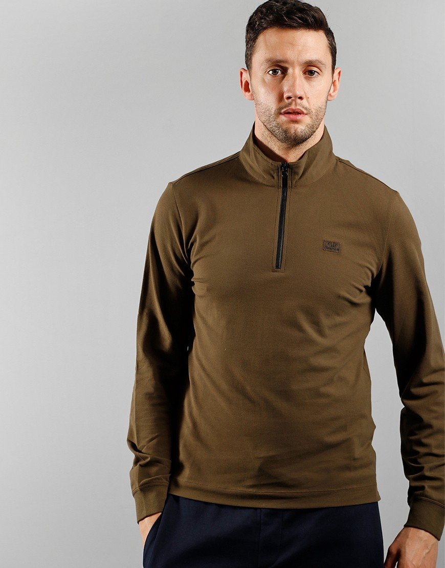 C.P. Company Long Sleeve Polo Shirt Ivy Green