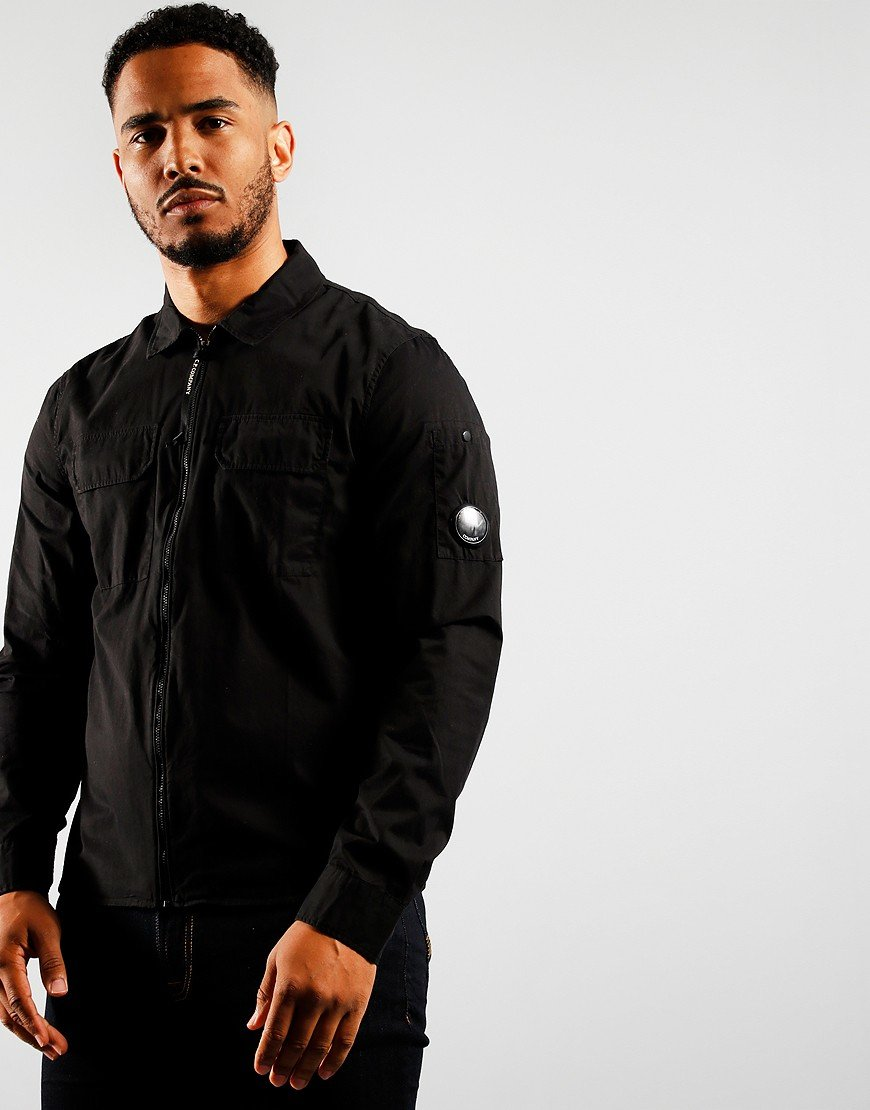 C.P. Company Zipped Overshirt Black