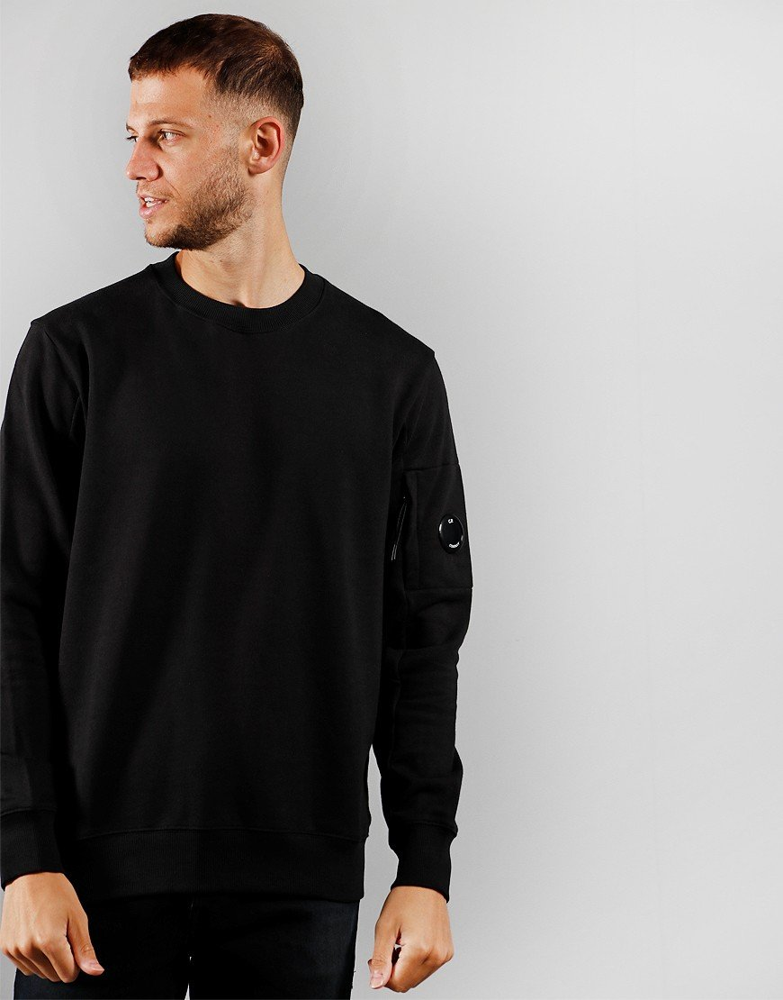 C.P. Company Crew Sweat Black