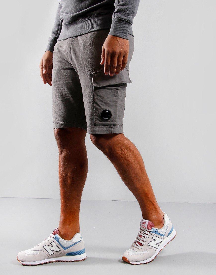 C.P. Company Cargo Sweat Shorts Gargoyle