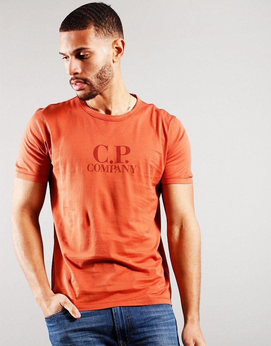 C.P Company Logo T-Shirt Burnt Ochre