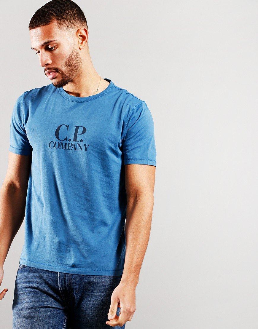 C.P Company Logo T-Shirt Lyons Blue