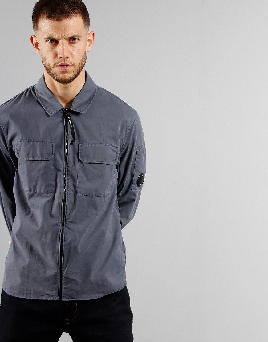 C.P. Company Zipped Overshirt Ombre Blue