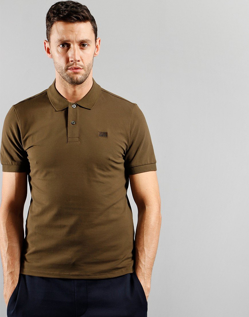 C.P. Company Short Sleeve Polo Shirt Ivy Green
