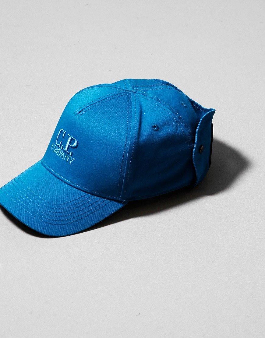 C.P. Company Kids Goggle Cap Lyons Blue