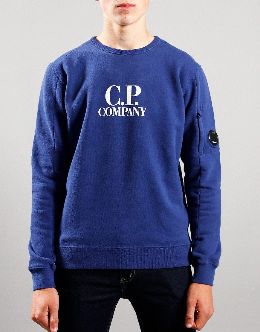 C.P. Company Kids Logo Print Sweat Blueprint