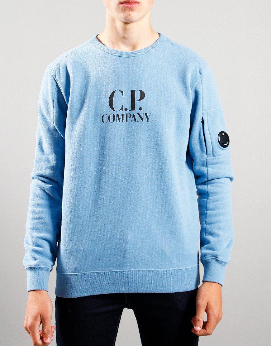 C.P. Company Kids Logo Print Sweat Blue Heaven
