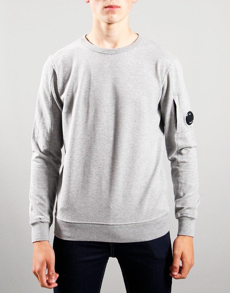 C.P. Company Kids Basic Fleece Crew Neck Sweatshirt Grey Melange
