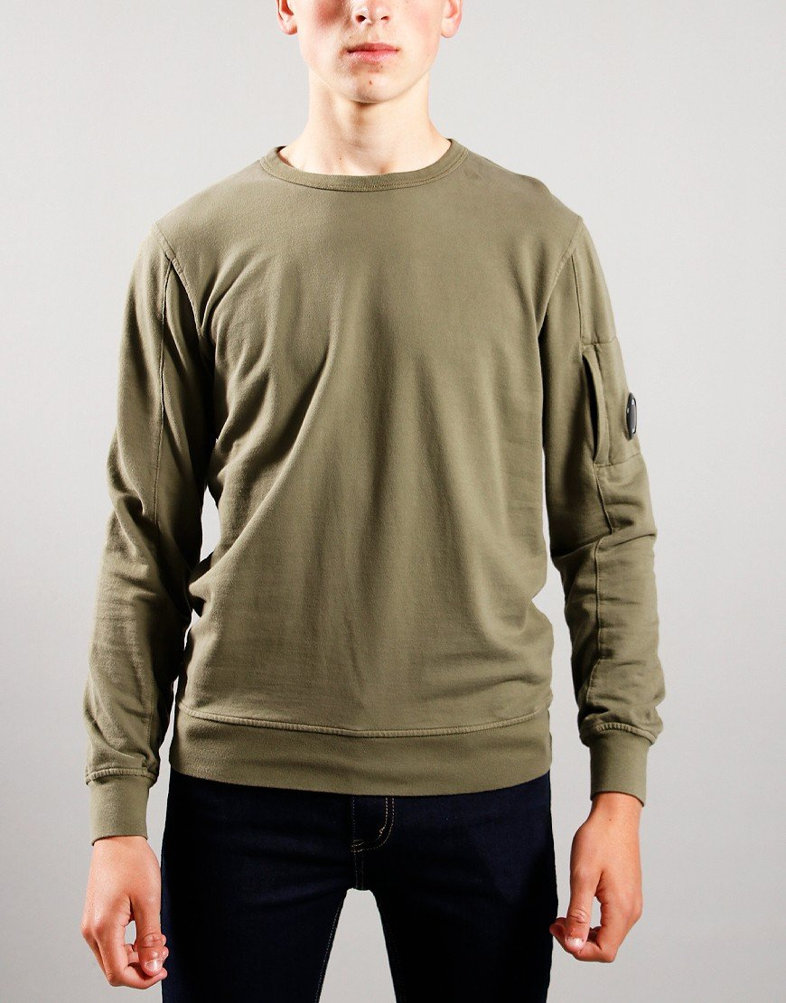 C.P. Company Kids Basic Fleece Crew Neck Sweatshirt Stone Grey