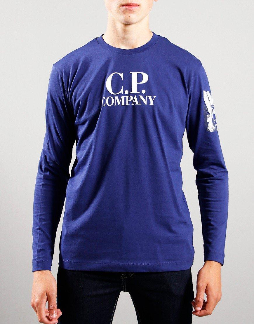 C.P. Company Kids Jersey Lens Print T-Shirt in Blueprint