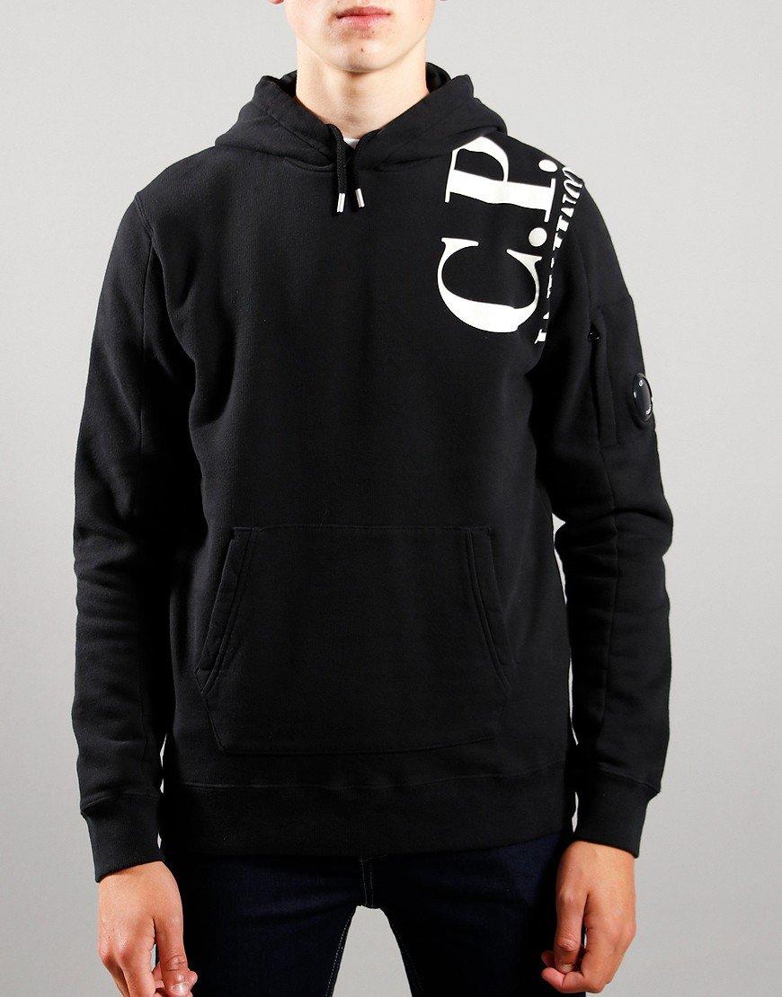 C.P. Company Kids Logo Print Hoodie Black