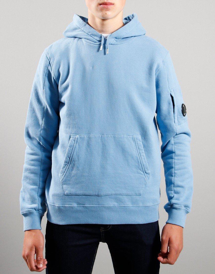 C.P. Company Kids Basic Fleece Hoodie Blue Haven