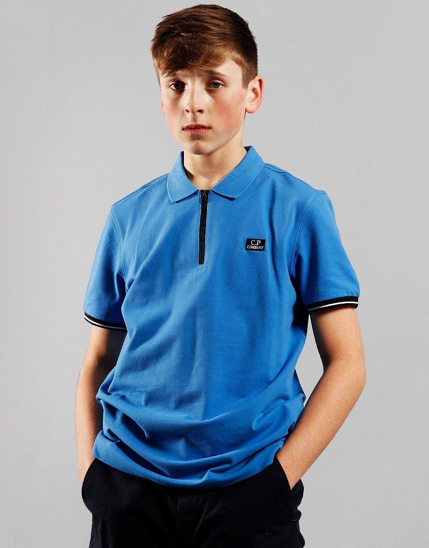 C.P. Company Kids Zip Polo Shirt Riveria