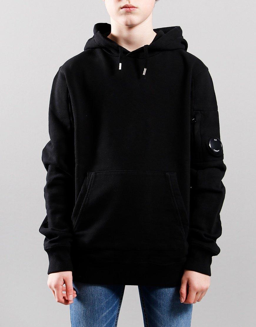 C.P. Company Kids Basic Fleece Pullover Lens Hoodie Black