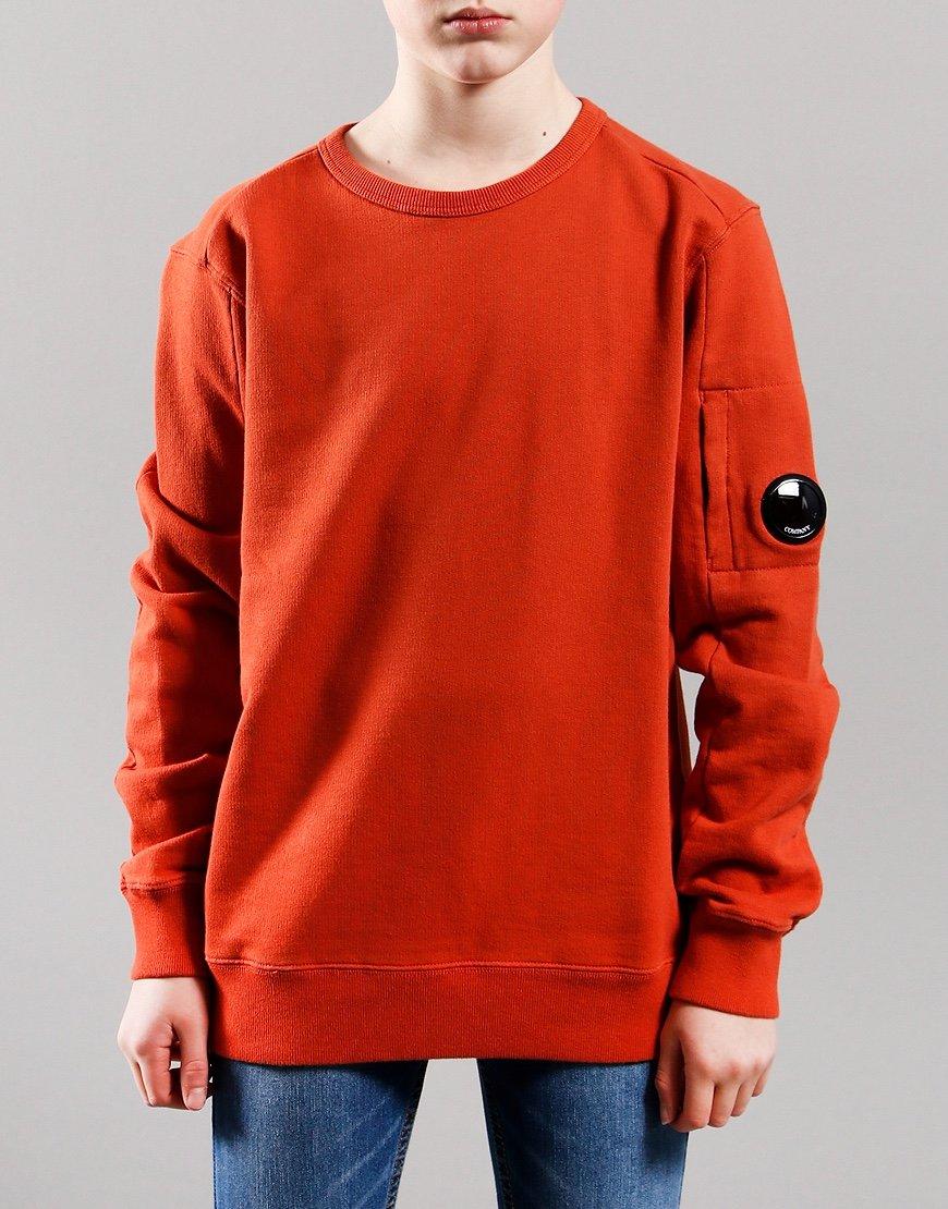 C.P. Company Kids Basic Fleece Lens Sweat Burnt Orange