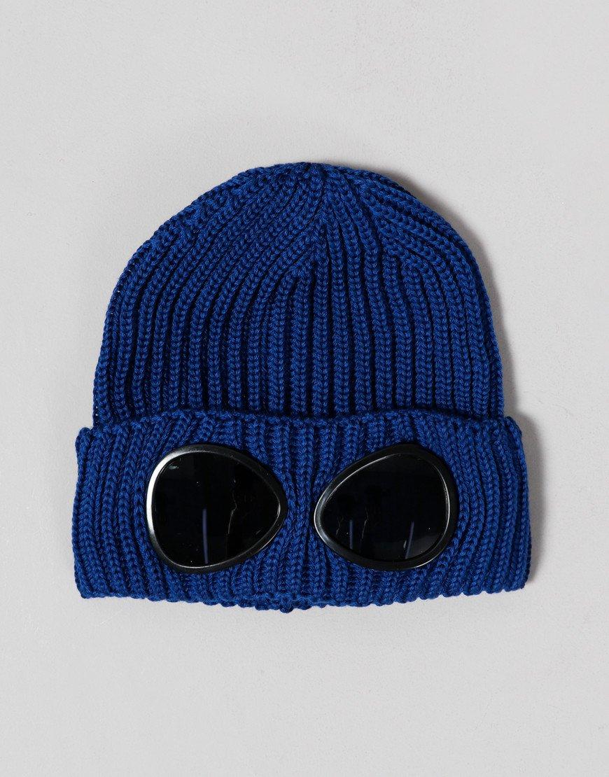 C.P. Company Kids Merino Wool Goggle Beanie Dark Denim