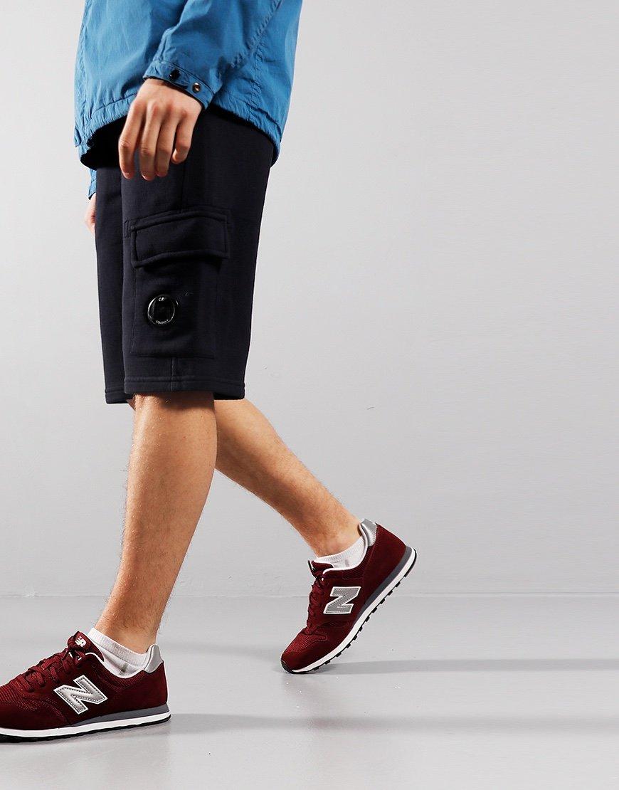 C.P. Company Kids Basic Fleece Lens Pocket Shorts Total Eclipse