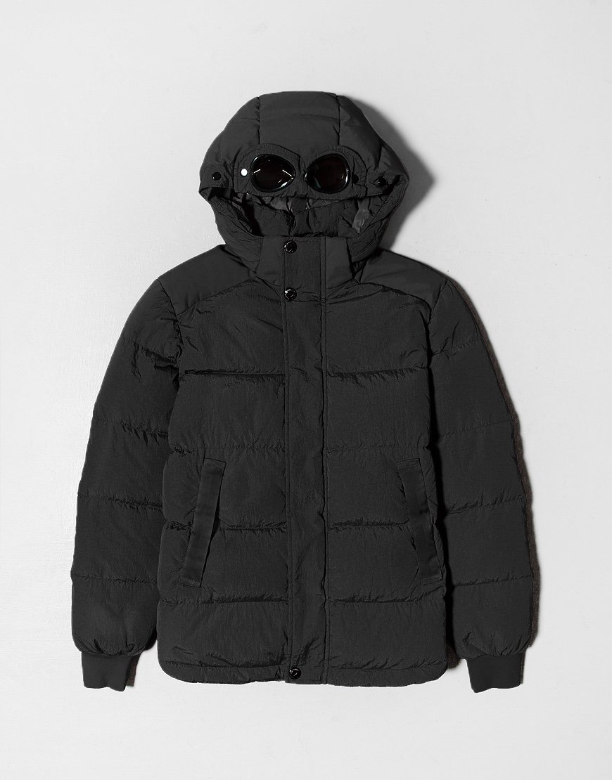 C.P. Company Kids Garment Dyed Puffer Jacket Black