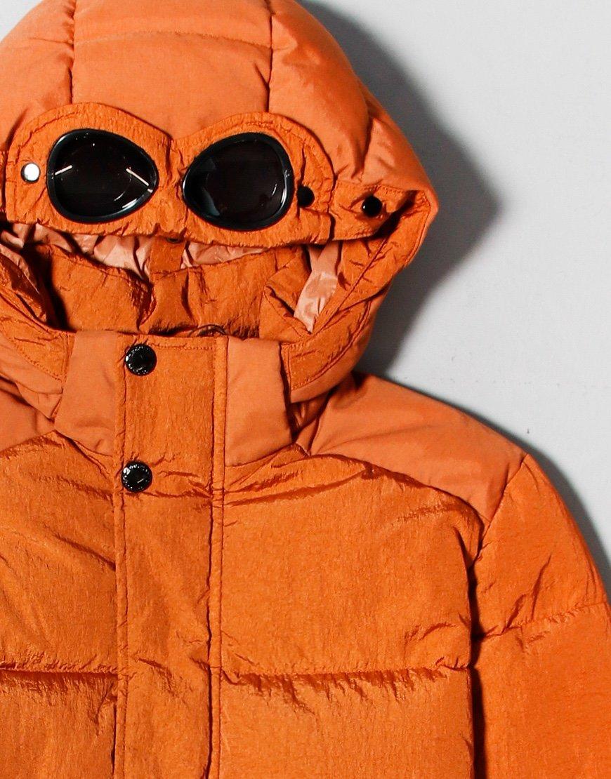 C.P. Company Kids Garment Dyed Puffer Jacket Rusty Orange