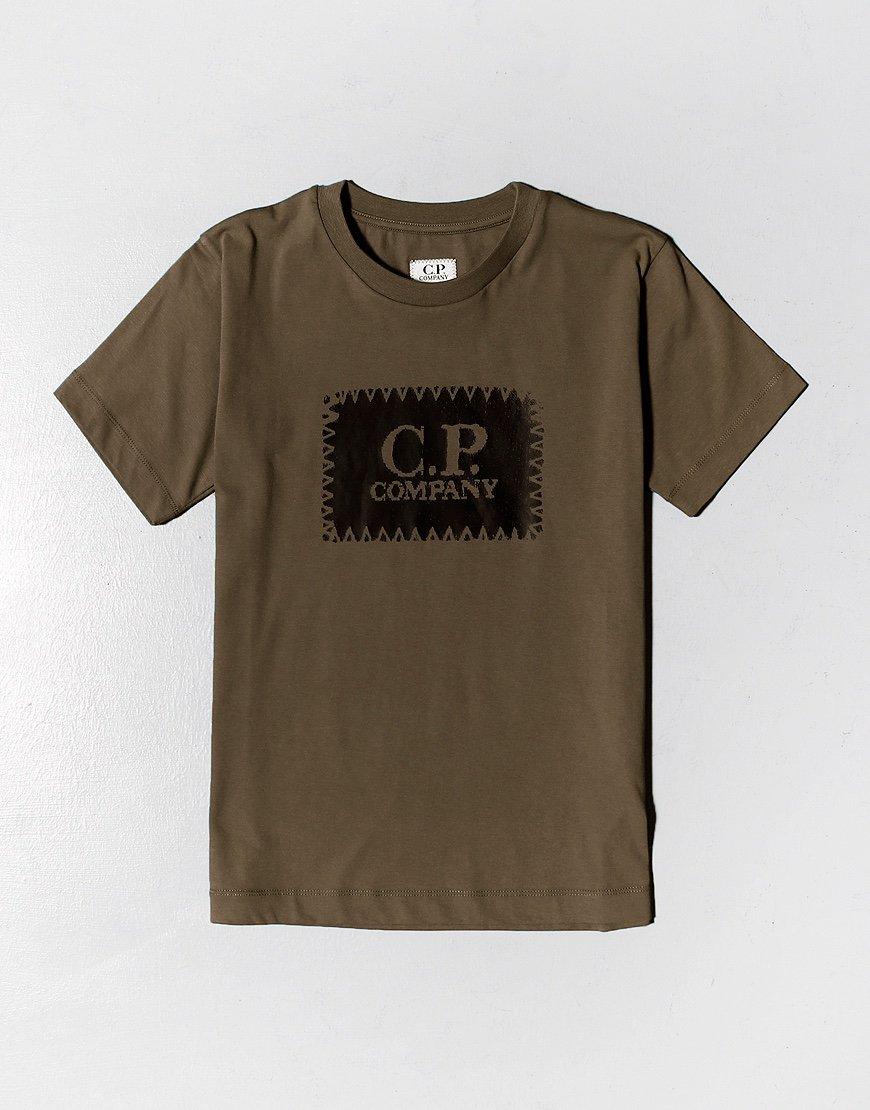 C.P. Company Kids Patch Logo T-Shirt Ivy Green