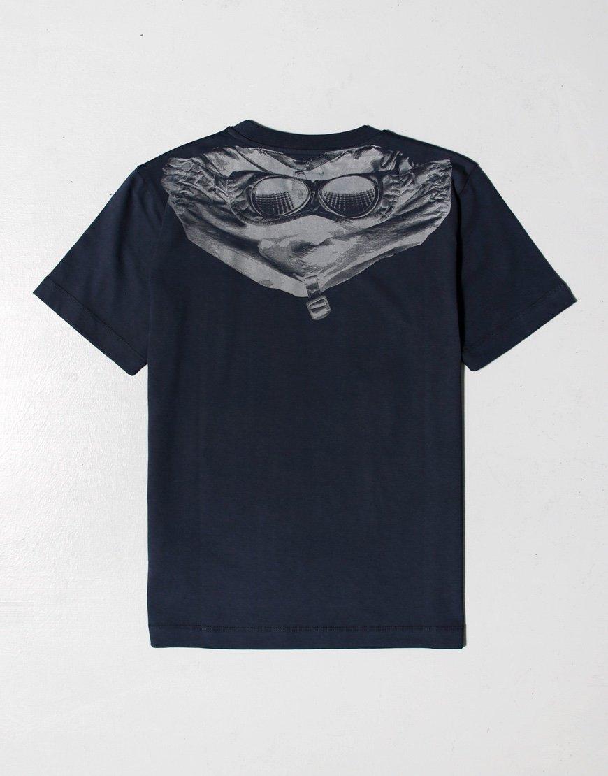 C.P. Company Kids Jersey 28/1 Goggle Print T-shirt Total Eclipse