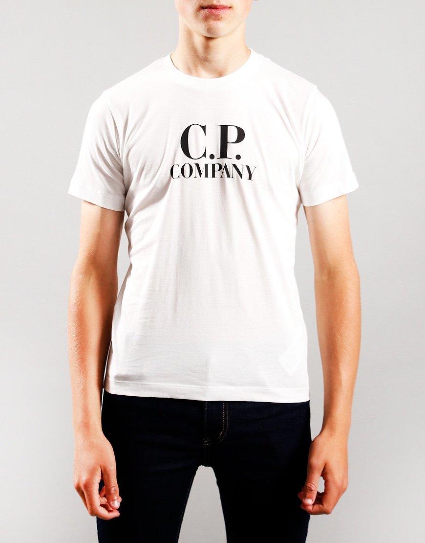 C.P. Company Kids Chest Logo Hood Print T-Shirt Gauze White
