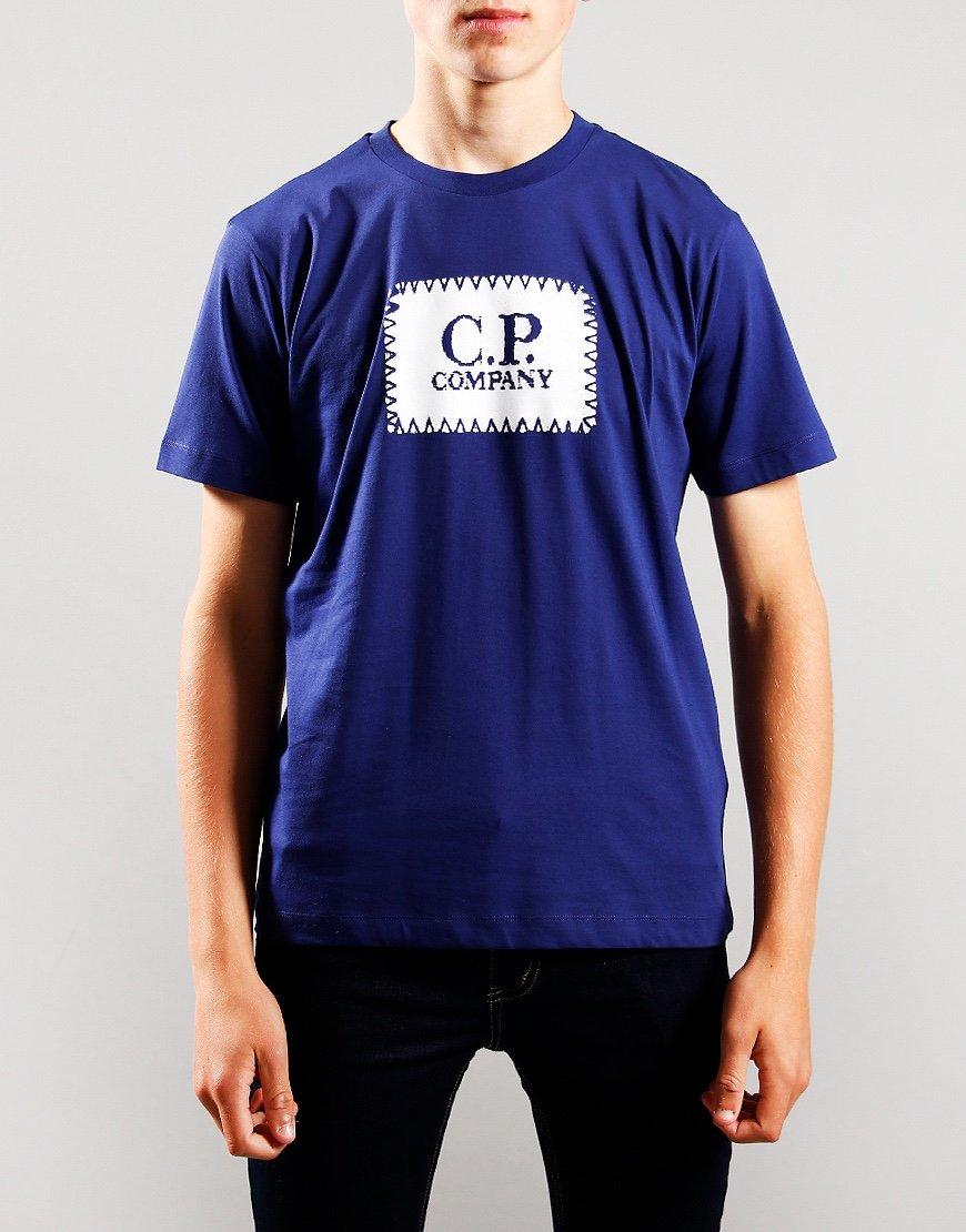 C.P. Company Kids Patch Logo T-Shirt Blueprint