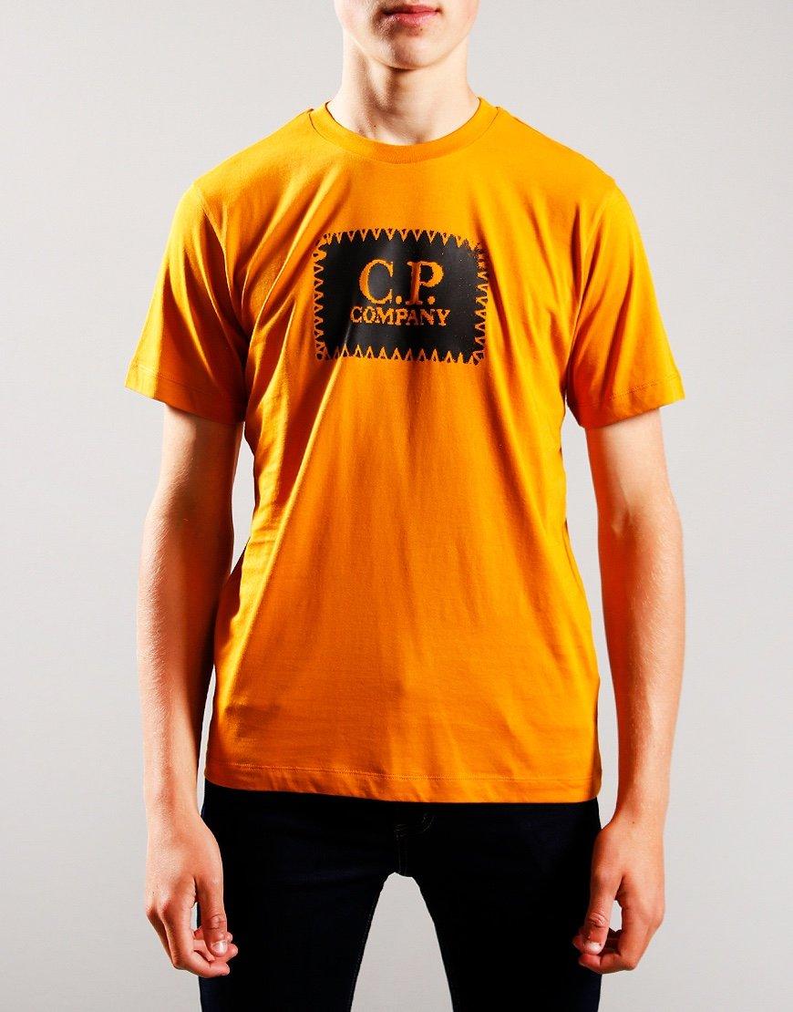 C.P. Company Kids Patch Logo T-Shirt Desert Sun