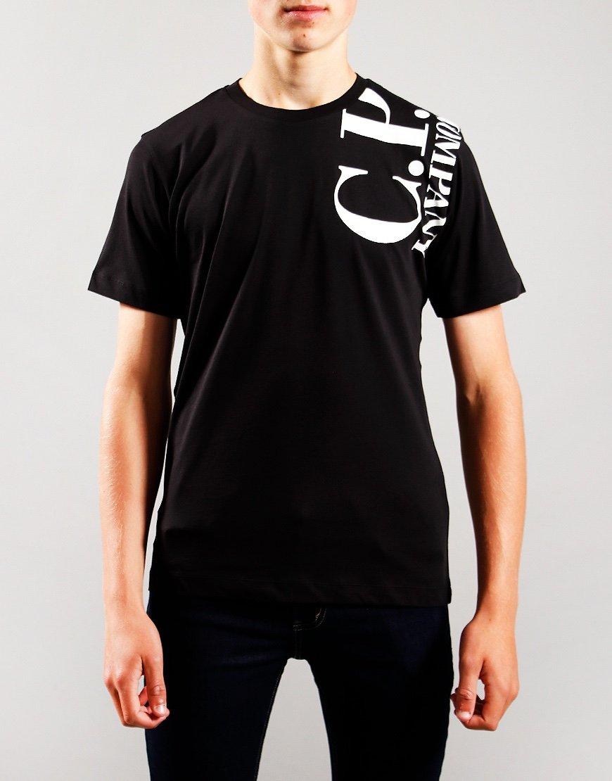 C.P. Company Kids Logo Print T-Shirt Black