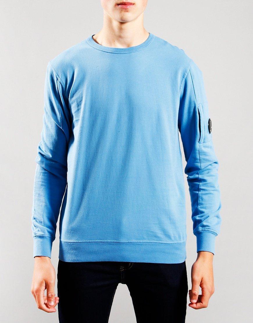 C.P. Company Kids Basic Fleece Crew Neck Sweatshirt Blue Heaven