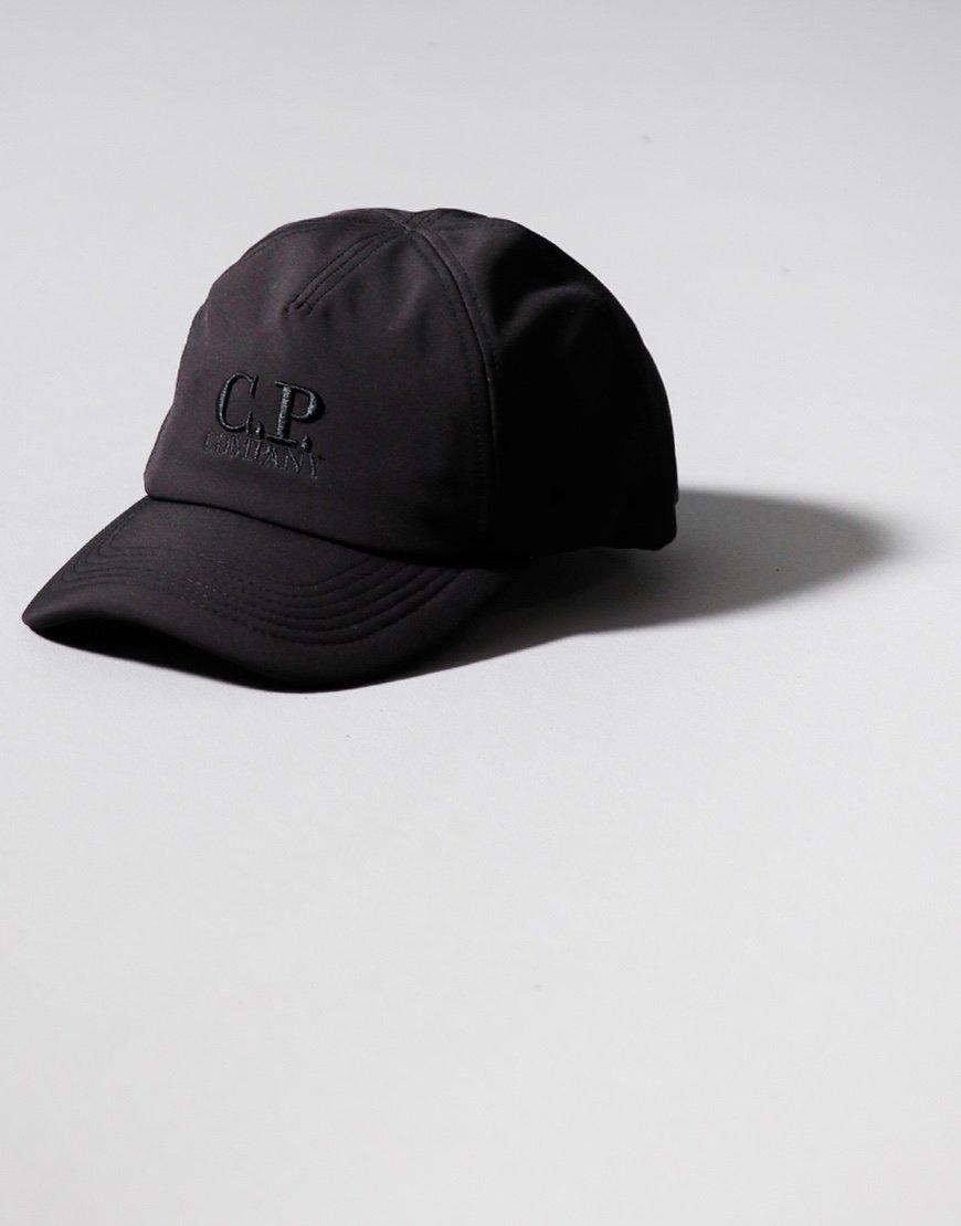 C.P. Company Kids Shell Embroidered Logo Cap Black