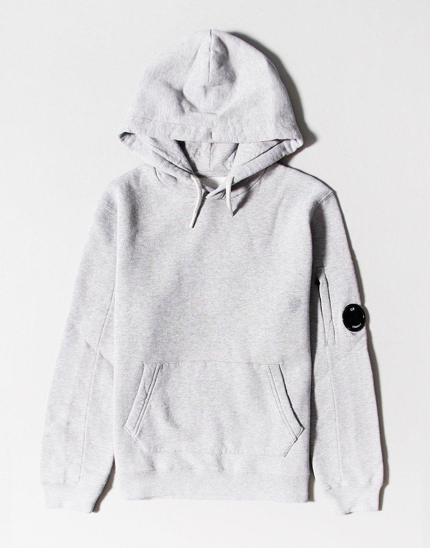 C.P. Company Kids Basic Fleece Pullover Lens Hoodie Grey Melange