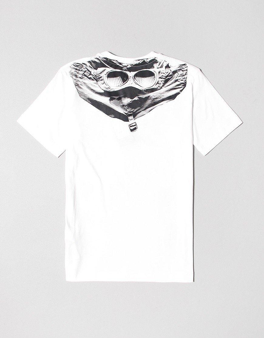 C.P. Company Kids Jersey 28/1 Goggle Print T-Shirt Gauze White