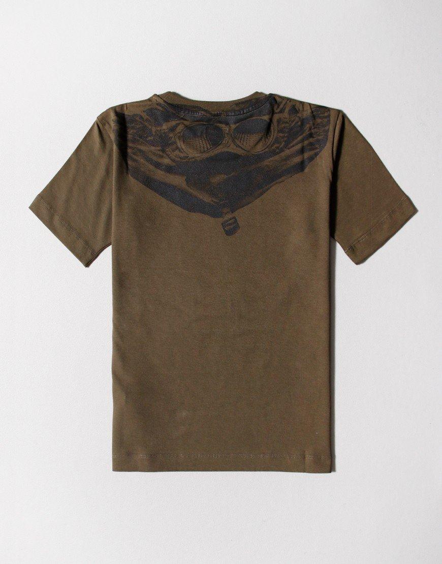 C.P. Company Kids Jersey 28/1 Goggle Print T-Shirt Ivy Green