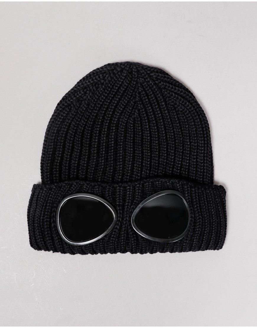 C.P. Company Kids Merino Wool Goggle Beanie Black