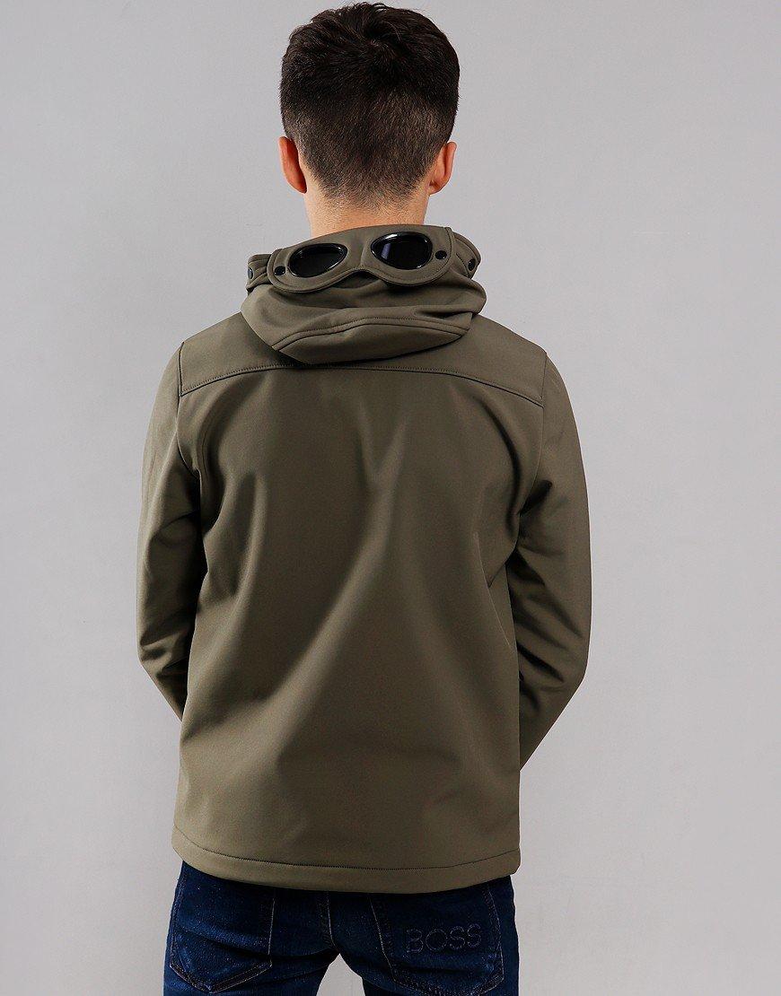 C.P. Company Kids Goggle Soft Shell Jacket Dusty Olive