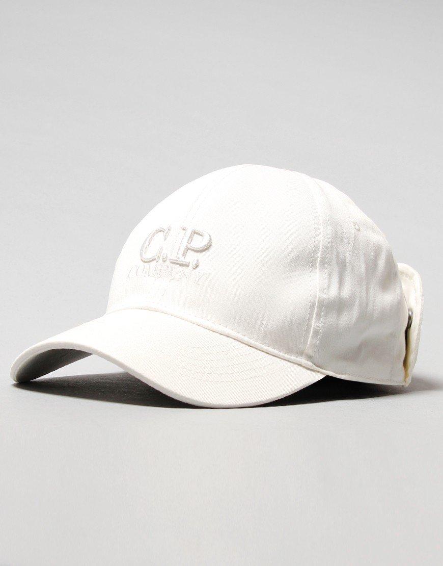 C.P. Company Kids Goggle Cap Gauze White