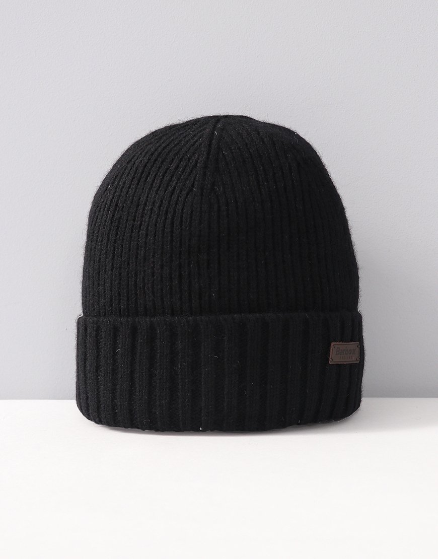 Barbour Carlton Knitted Hat Black