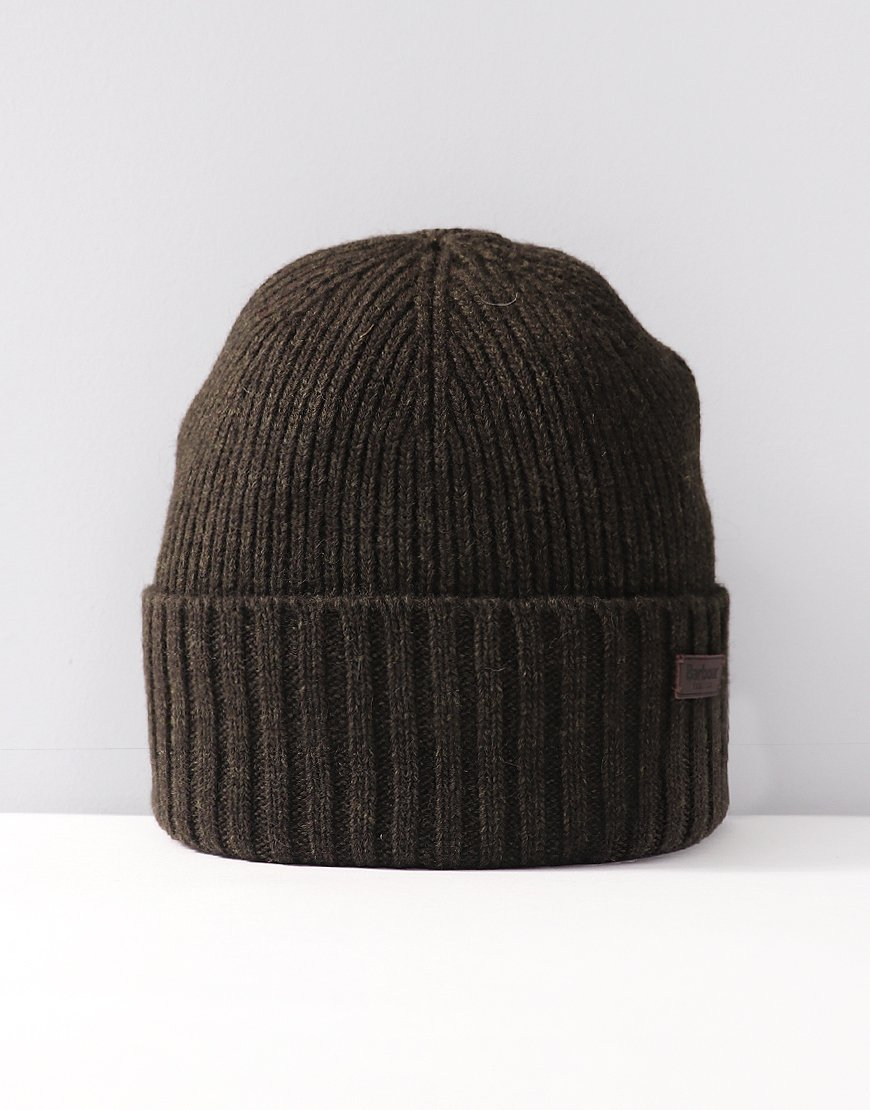 Barbour Carlton Knitted Hat Dark Green
