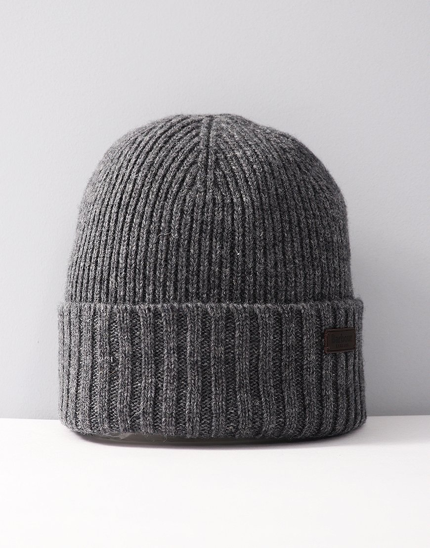 Barbour Carlton Knitted Hat Grey
