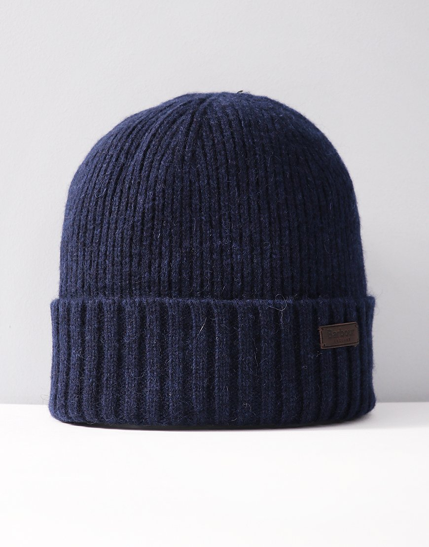 Barbour Carlton Knitted Hat Navy