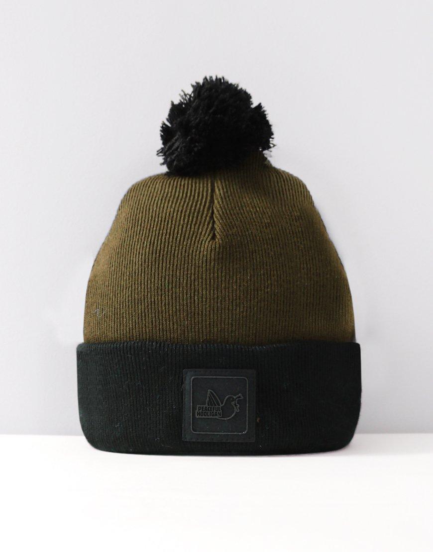 Peaceful Hooligan Carrick Bobble Hat Khaki