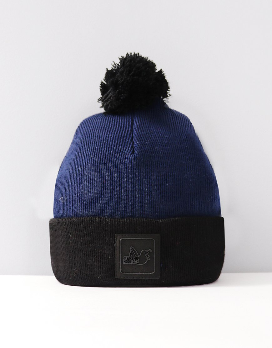 Peaceful Hooligan Carrick Bobble Hat Navy